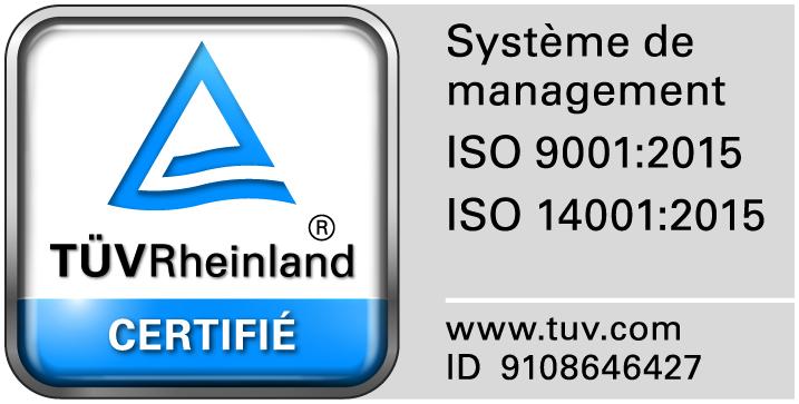 Nous Sommes Certifiés ISO 9001 Et ISO 14001 !