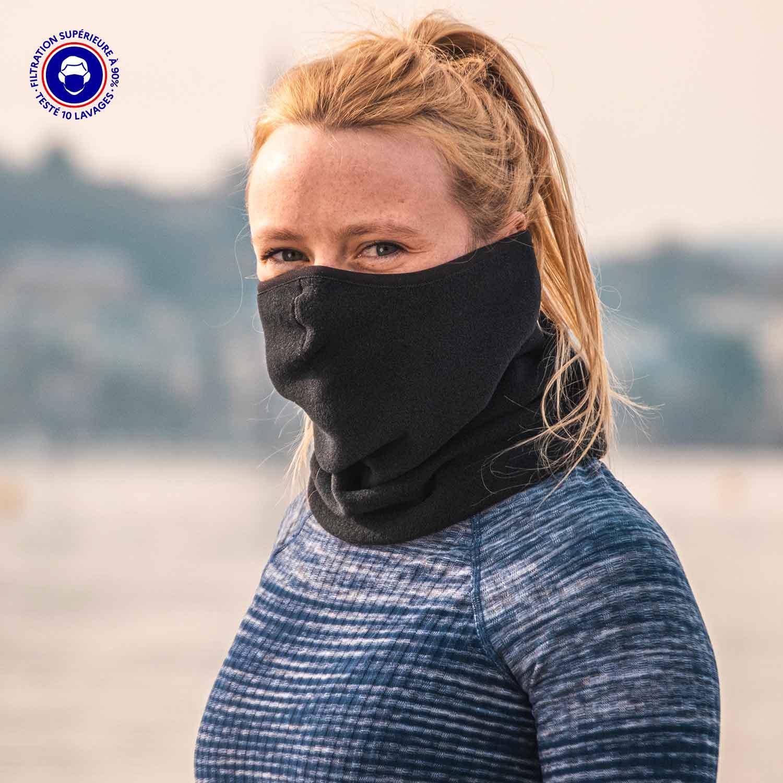 Masque Tour De Cou Catégorie 1 | Sport & Grand Public |  Sweden Snood Uni Noir Adulte – Euromed