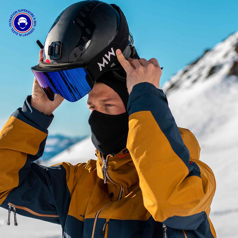 Masque Cagoule Catégorie 1 | Finland Hood Uni Noir Adulte – Made In France