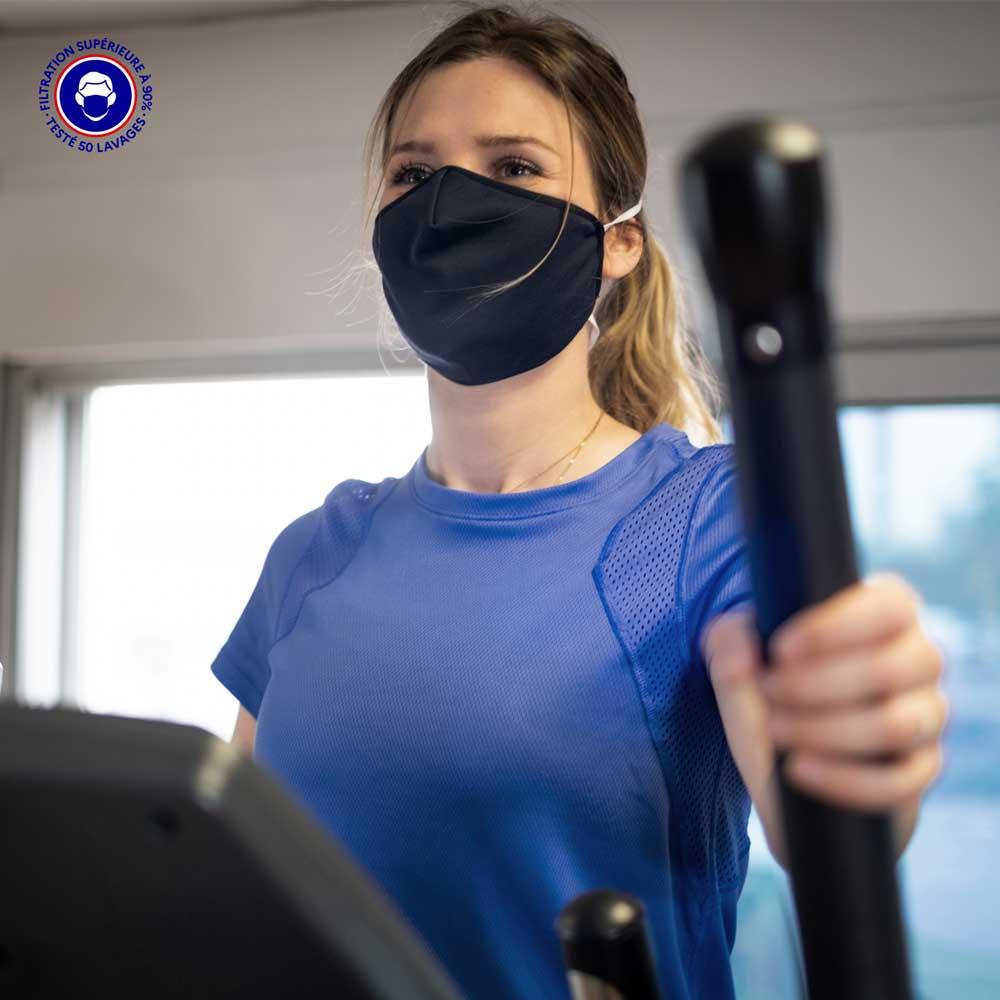 Masque Tissu Catégorie 1 | Masque Grand Public & Sport | BREEZE Breath